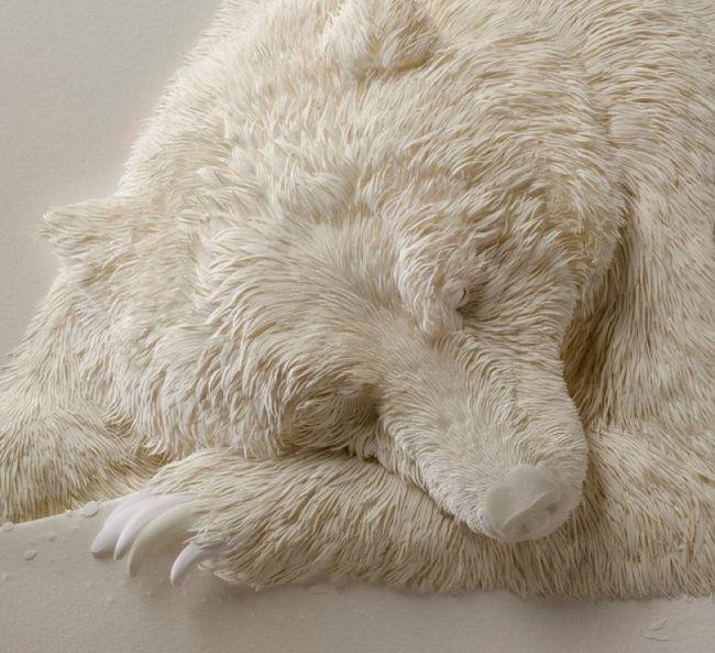 Великолепные скульптуры животных из бумаги от Кэлвина Николлса