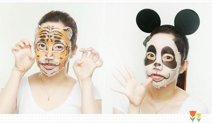 Звериные косметические маски для лица из Кореи