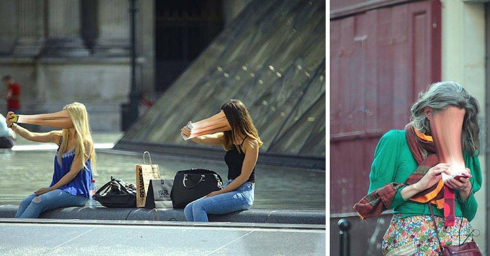 Как люди присосались к экранам своих смартфонов