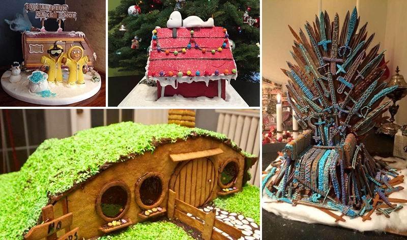 Креативные пряничные домики по мотивам сериалов и фильмов