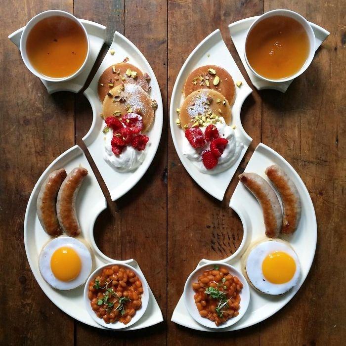 Симметричные завтраки Майкла Зи из Instagram