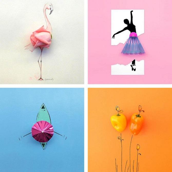Веселые иллюстрации с повседневными предметами от Хесусо Ортиса