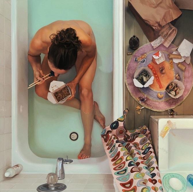 Зависимость от еды в серии гиперреалистичных картин от Ли Прайс