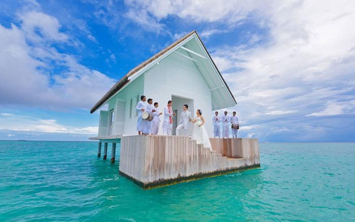 Домик для бракосочетаний на Мальдивах