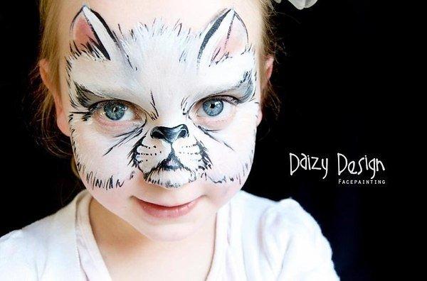 Необычный боди-арт на лицах детей