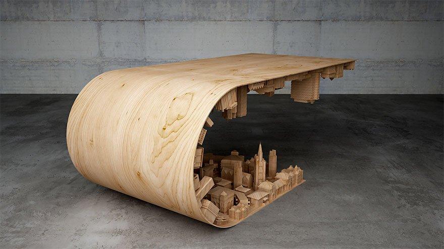 Необычный журнальный столик от Стелиоса Моусарриса