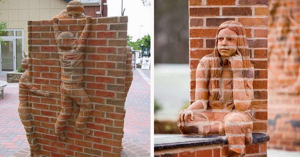 Живые кирпичные скульптуры от Брэда Спенсера