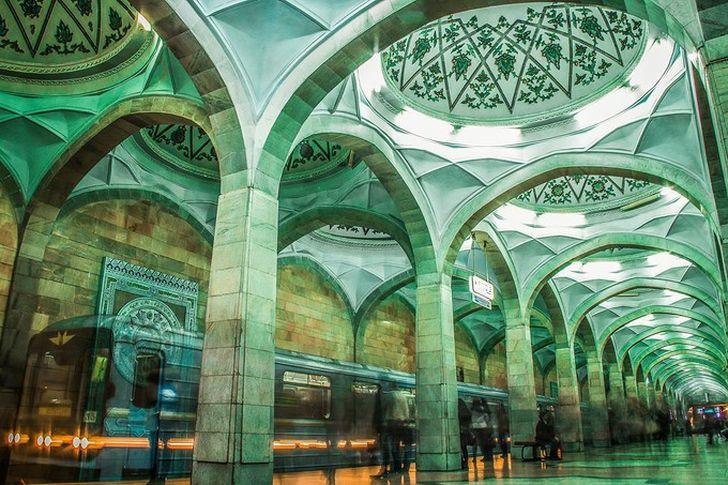 Красота Ташкентского метро в авторском фотопроекте Камиля Еникеева