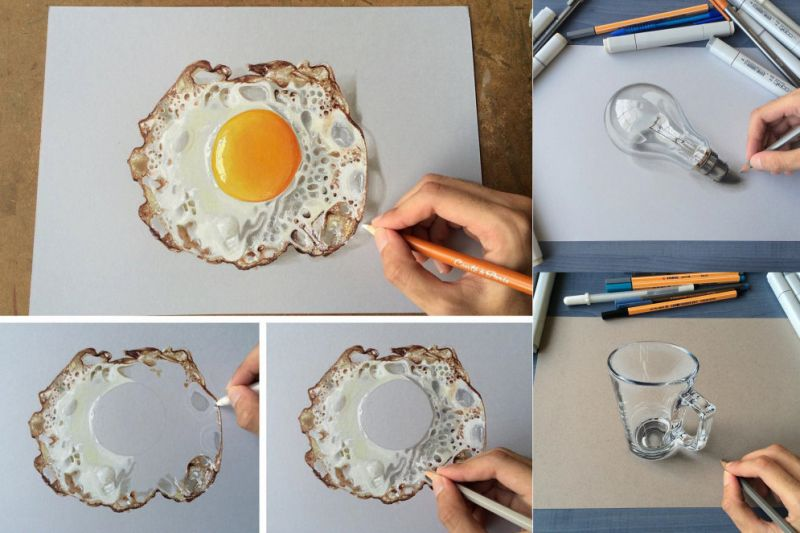 Реалистичные 3D-рисунки от 19-летнего парня