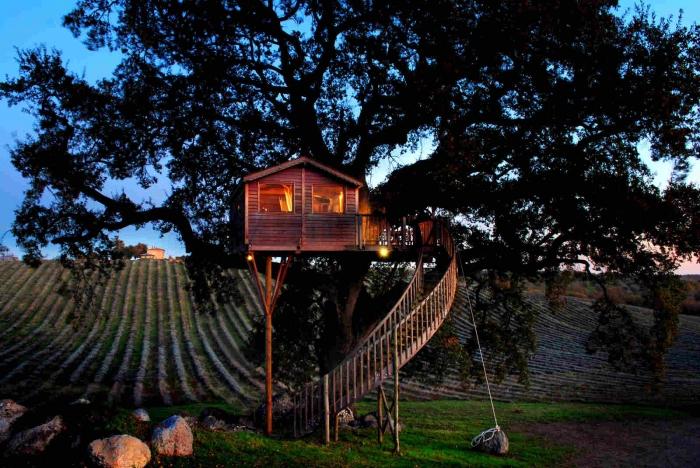 Уютный домик на дереве в Италии