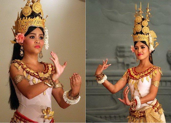 Древний танец апсар и современные очаровательные танцовщицы