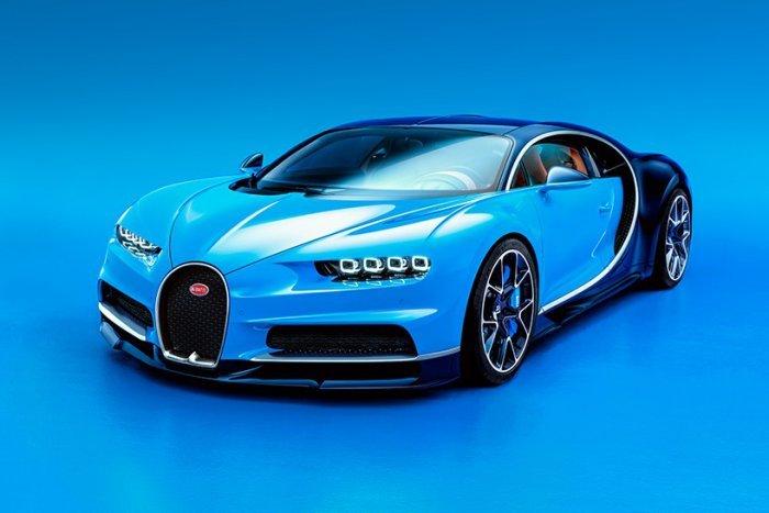 Гиперкар Bugatti Chiron на автошоу Geneva Motor Show 2016