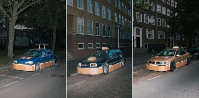 Парень по ночам апгрейдит чужие автомобили до картонных суперкаров