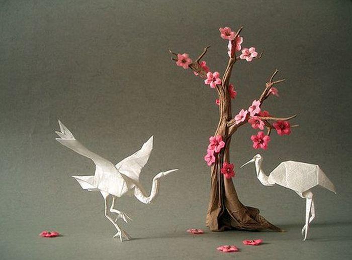 Удивительные фигурки оригами от Акиры Ёсидзава