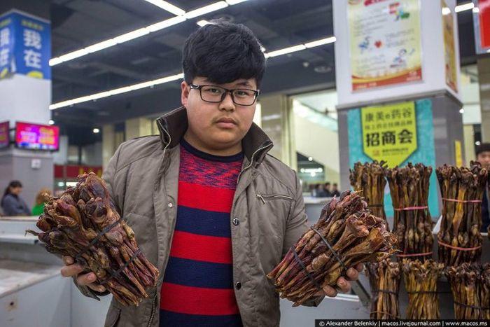 Магазин сушеных пенисов в Китае