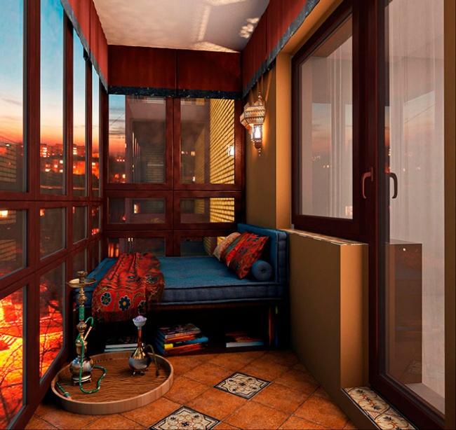 Превращение маленького балкона в уютное место для отдыха