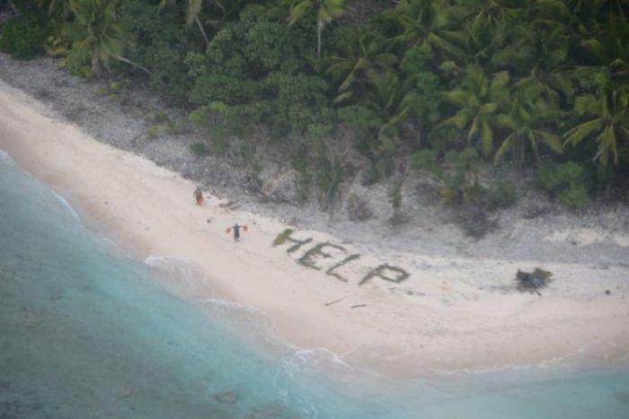 Слово Help из пальмовых листьев и невероятное спасение моряков