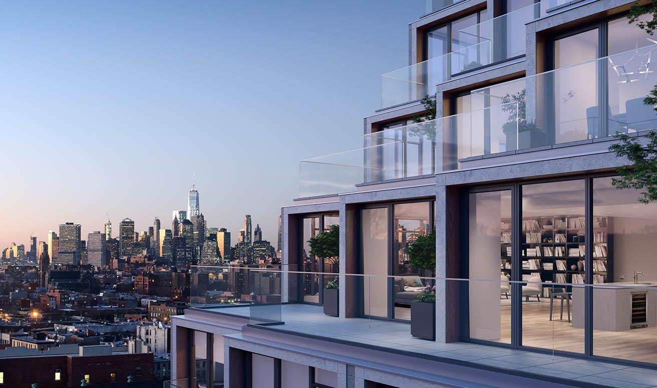 Элитный дом в Бруклине с каскадными террасами