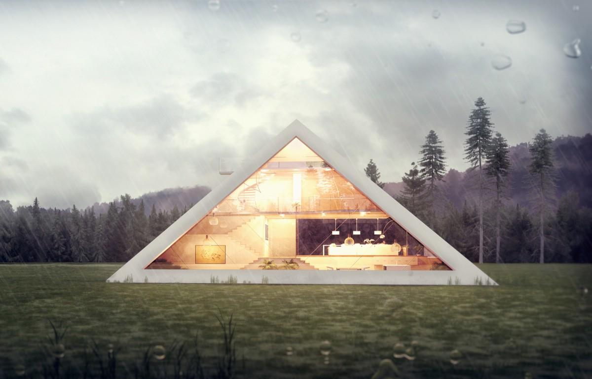 Футуристический концепт дома-пирамиды