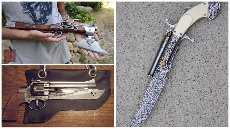 Необычные топоры и ножи, которые могут стрелять