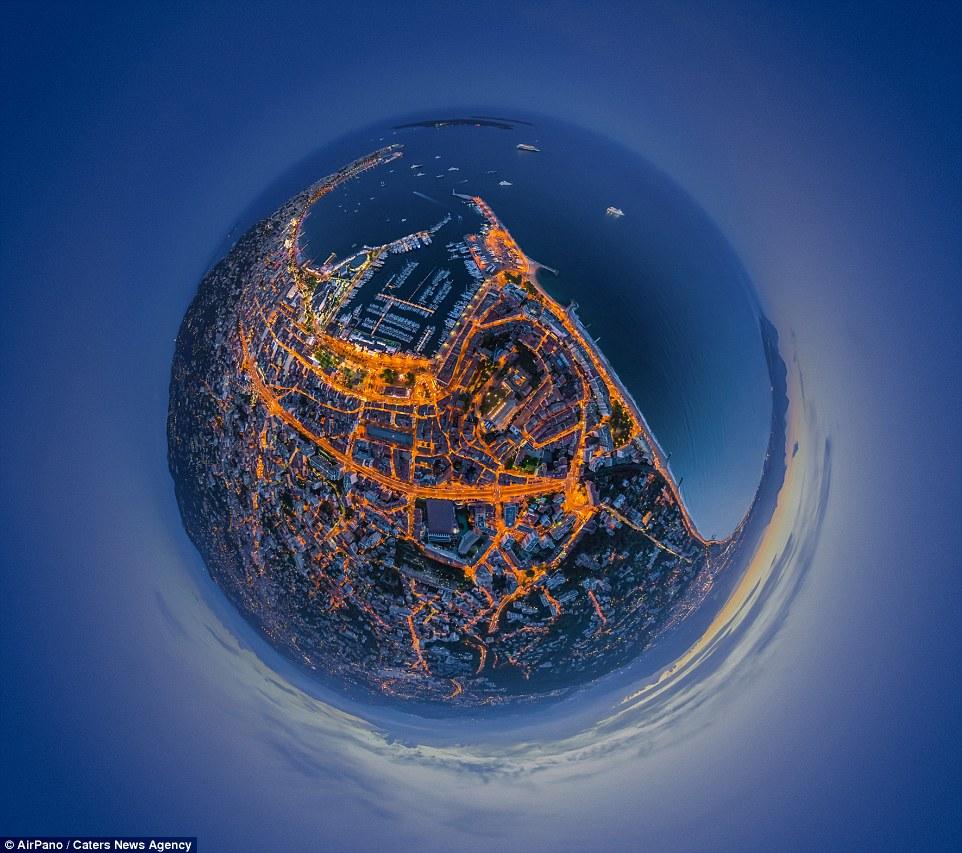 Панорамные ночные снимки крупных мегаполисов