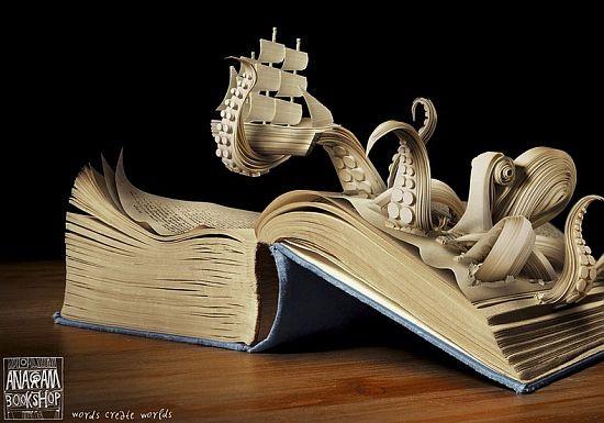 Резьба по книгам и разные красивые штуки