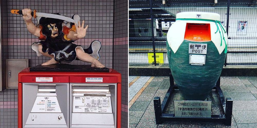 Необычная красота почтовых ящиков в Японии