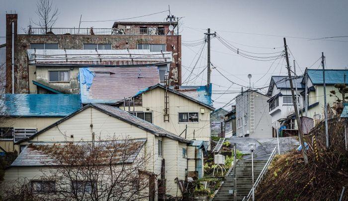 Заброшенный шахтерский город в Японии