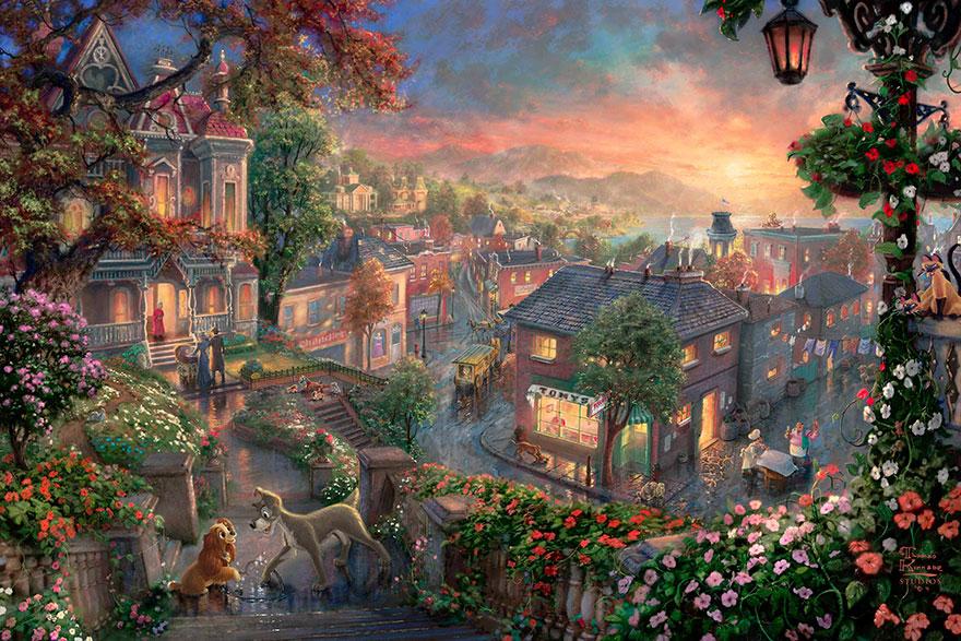 Диснеевские картины от художника Томаса Кинкейда
