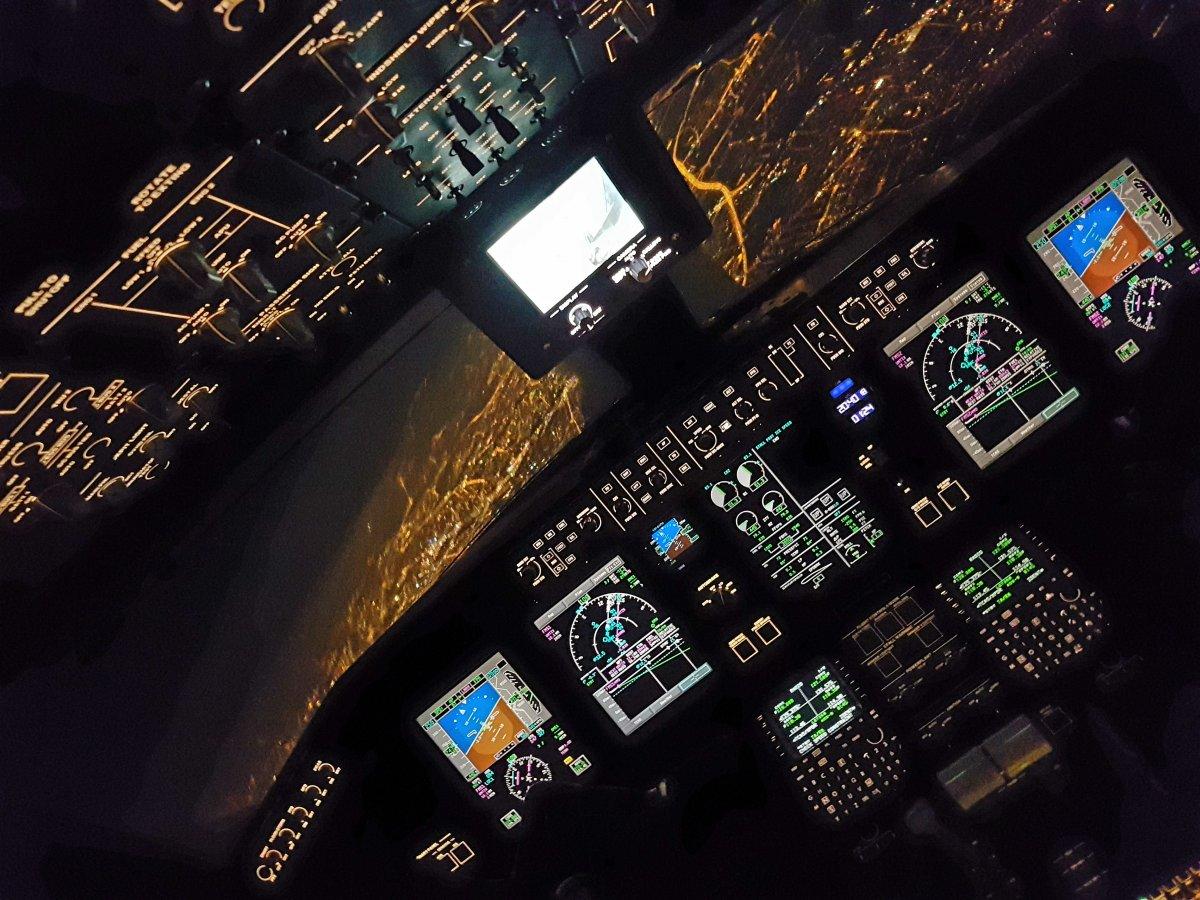 Фотографии от пилотов пассажирских авиалайнеров