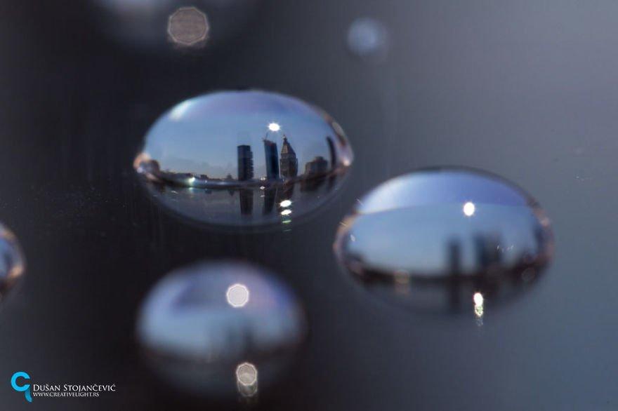 Города мира в каплях воды от Душана Стоянчевича