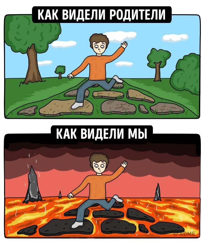Как видели детство мы и наши родители