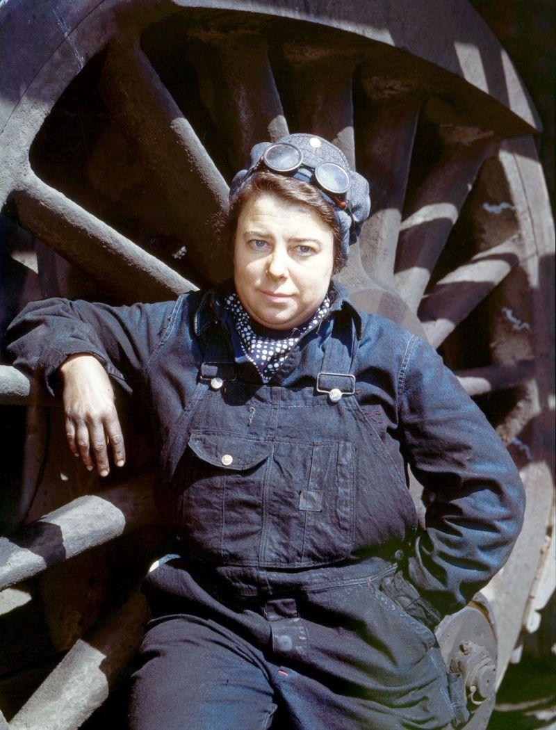 Работа женщин на железной дороге во времена Второй мировой войны