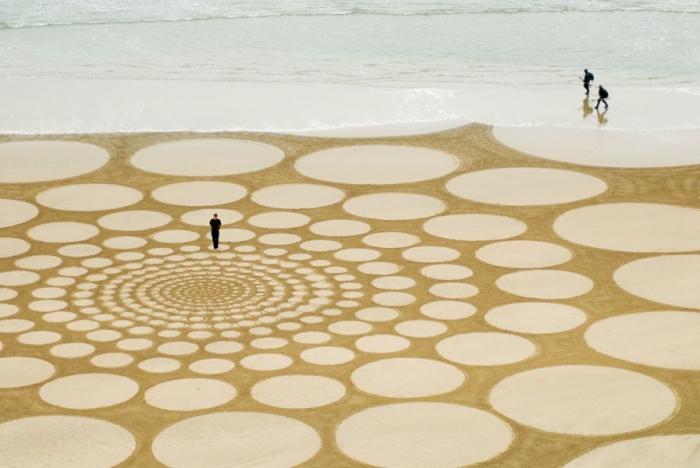 Такие красивые, но недолговечные узоры на песке