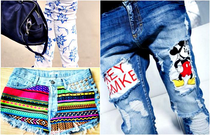 16 идей для трансформации старых джинсов