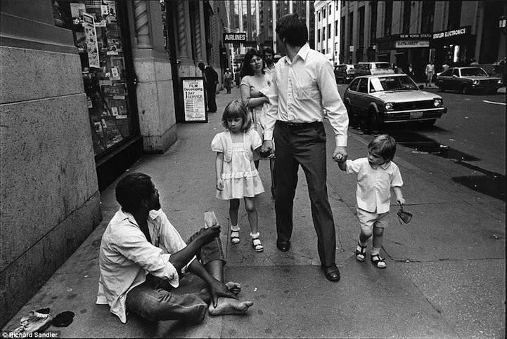 Чёрно-белые фотографии Нью-Йорка в 1980-е от Ричарда Сандлера