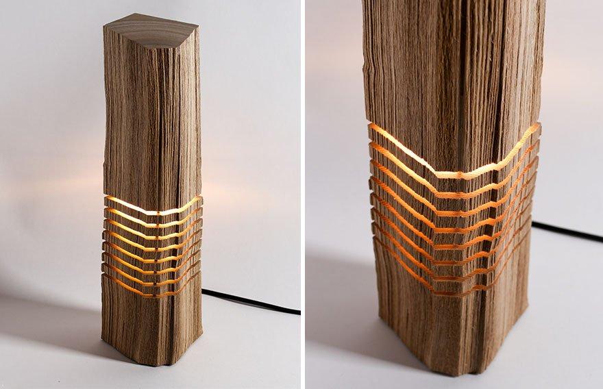 Деревянные светильники-поленья от Пола Фёклера