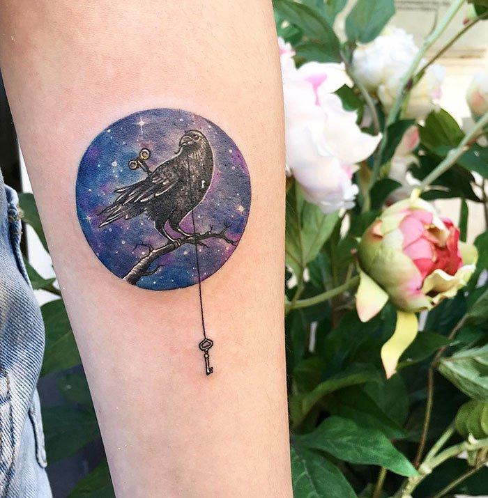 Миниатюрные круглые татуировки от Евы Krbdk