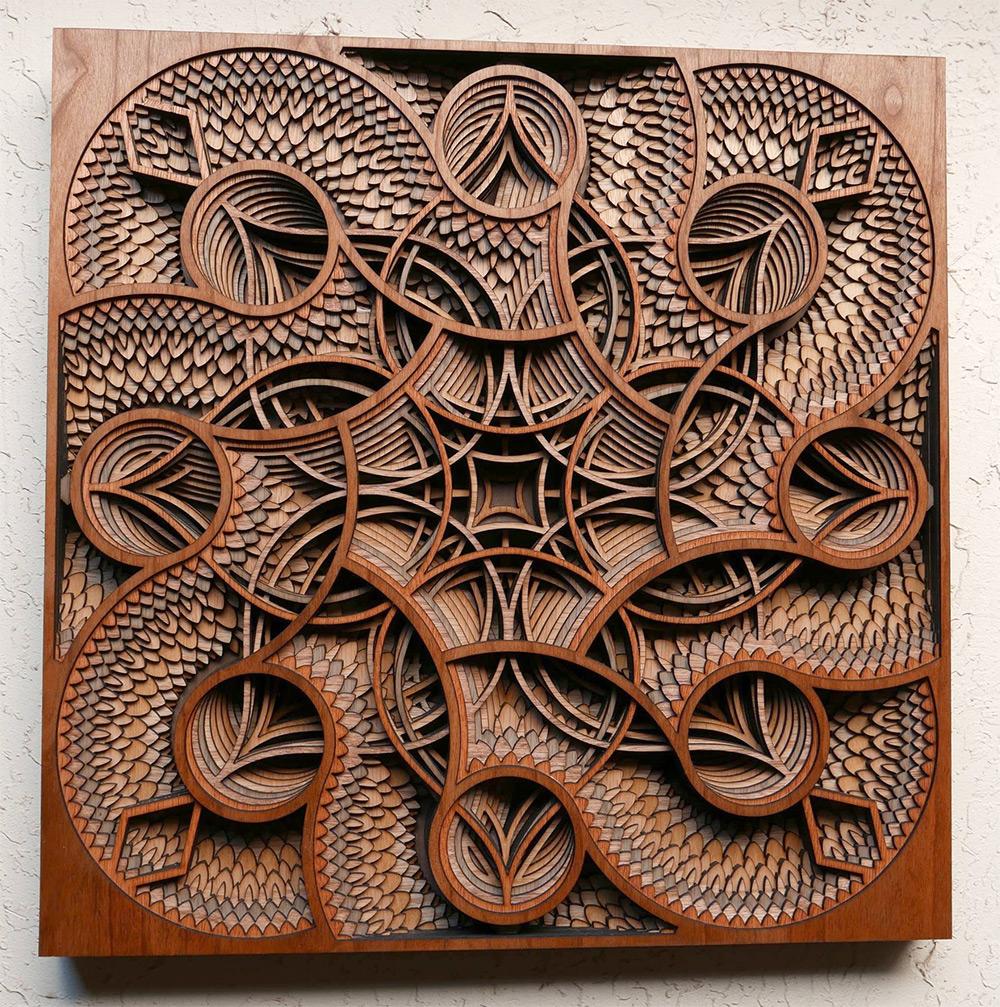 Многослойные картины из дерева от Gabriel Schama