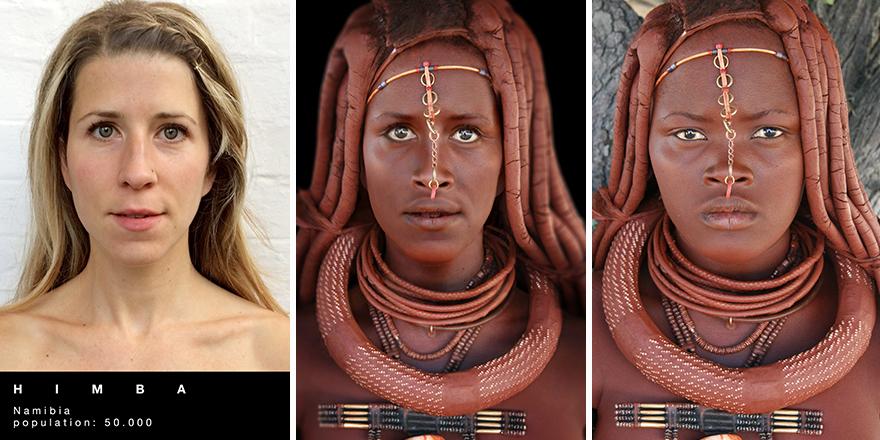 Путешественница перевоплощается в представительниц разных племен