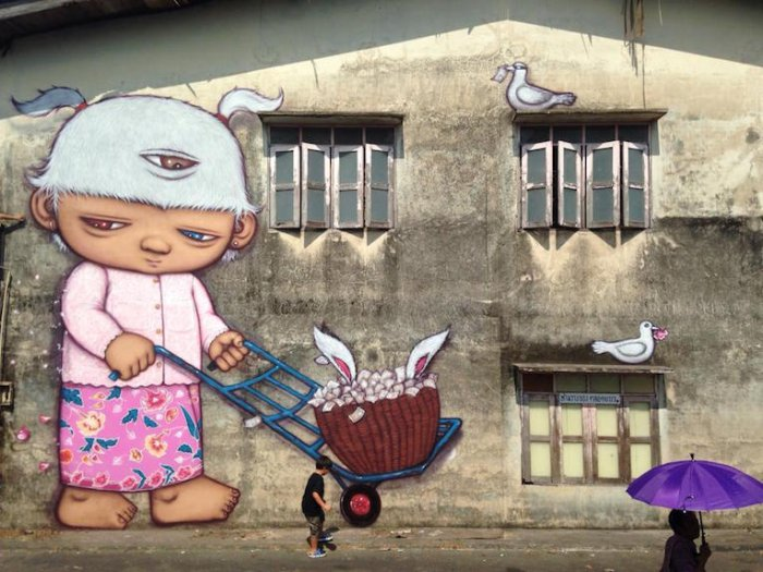 Уличные рисунки из Таиланда от Alex Face