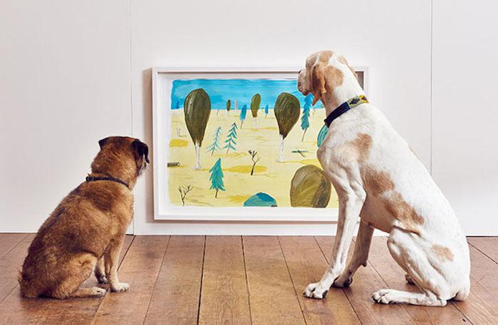 Выставка современного искусства для собак