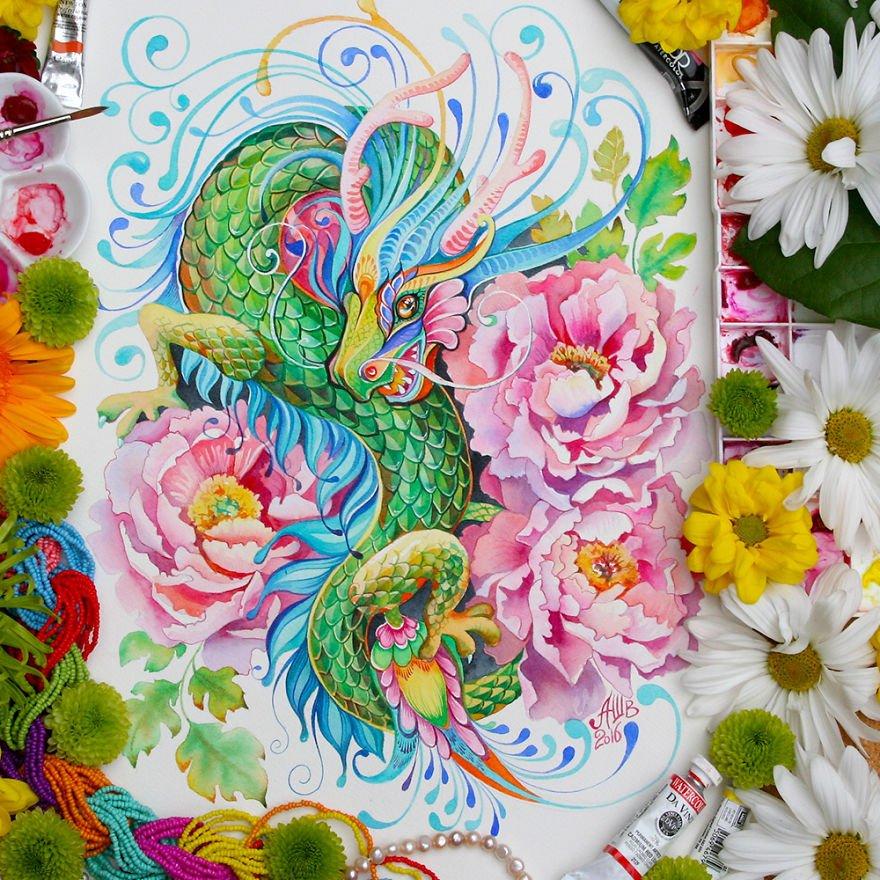 12 животных китайского календаря в работах Анны Буккьярелли