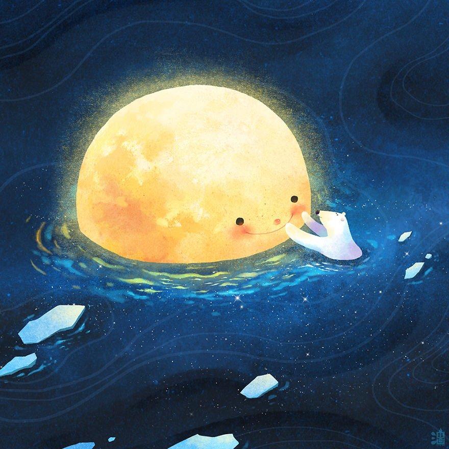 Иллюстрации от тайского художника Little Oil Art