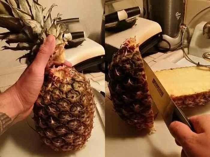 Как быстро и красиво порезать ананас