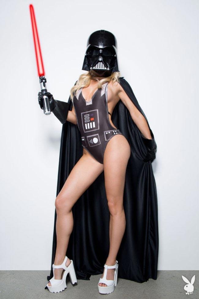 Модель Plауbоу Сара Джин Андервуд в роли персонажей Звёздных войн