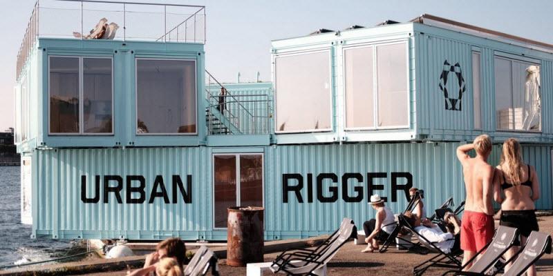 Плавающие общежития из морских контейнеров для датских студентов