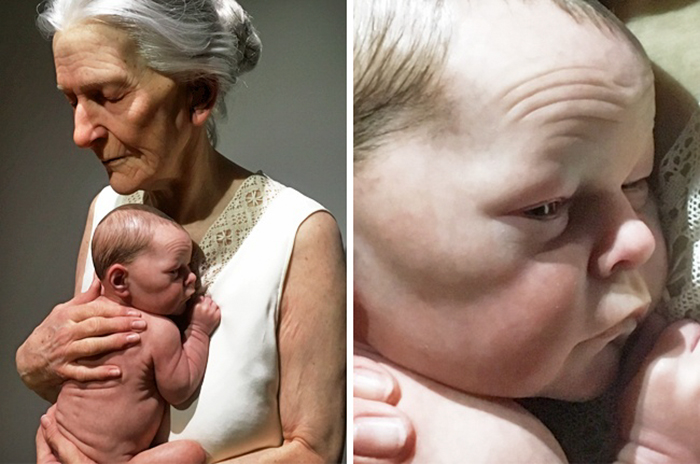 Гиперреалистичные скульптуры, которые трудно отличить от живых людей