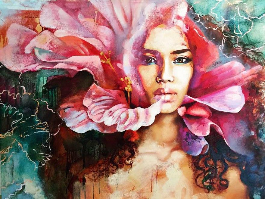 Молодая художница Dimitra Milan
