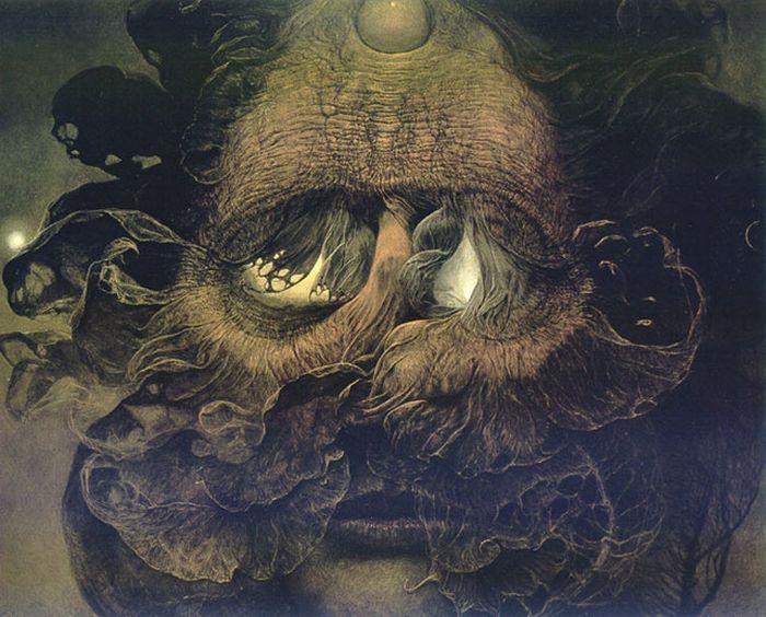 Мрачные картины Здзислава Бексиньского